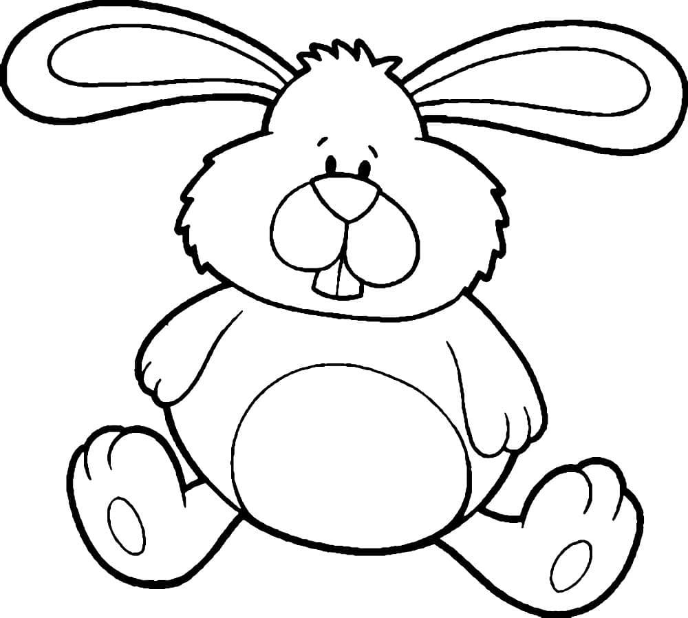 Картинка для рисования зайчик