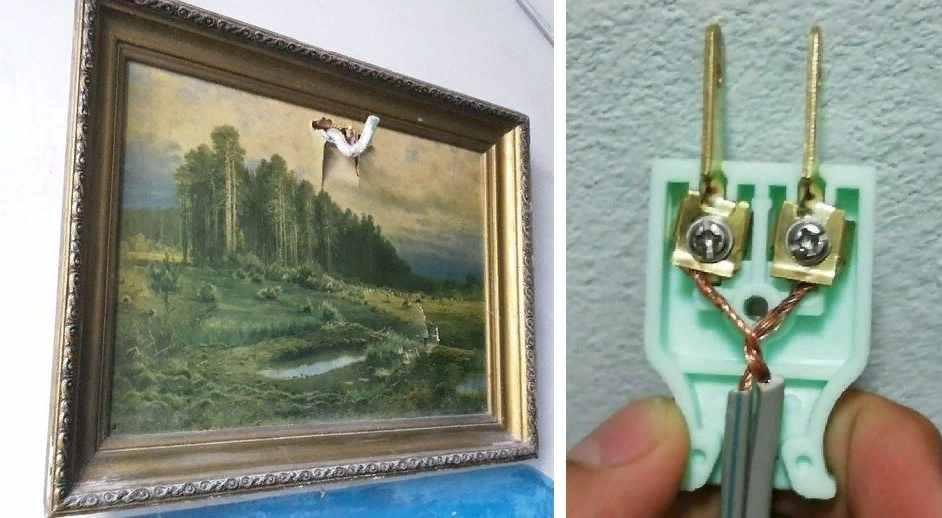 Картина и вилка
