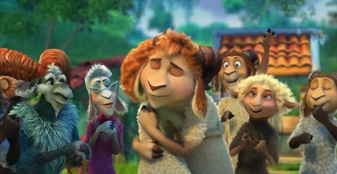 Сцена из мультфильма Волки и овцы